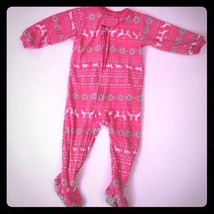 Fair Isle pattern pajamas